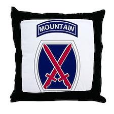 10th Mountain Throw Pillow