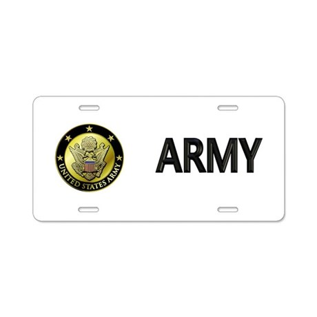 Army Black Logo Aluminum License Plate