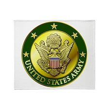 Army Green Logo Throw Blanket