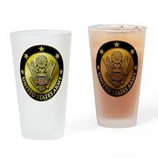 Army Black Logo Drinking Glass