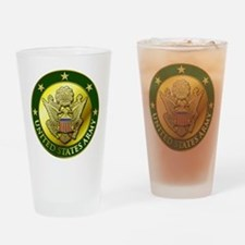 Army Green Logo Drinking Glass