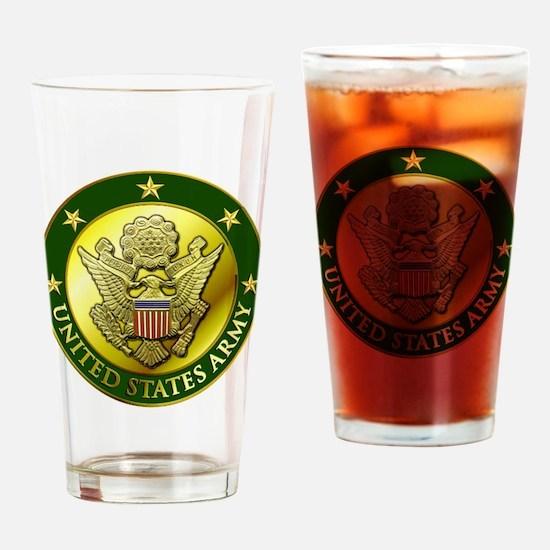 Army Green Logo Drinking Glass