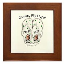 anti mitt romney t shirt Framed Tile
