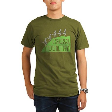 Cross Country Runners Organic Men's T-Shirt (dark)