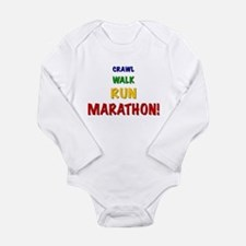 Crawl Walk Run Marathon! Infant Creeper Body Suit
