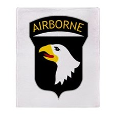 101st Airborne Throw Blanket