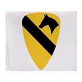 1st armor division military Fleece Blankets