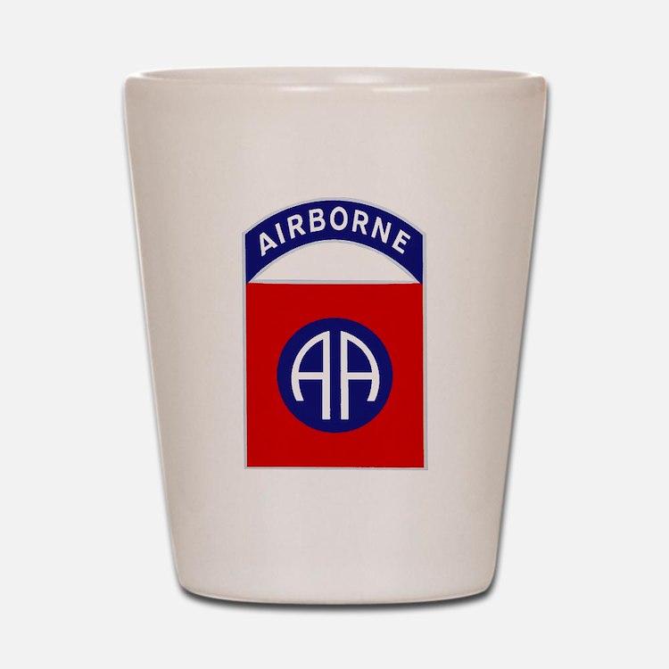 82nd Airborne Shot Glass