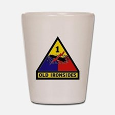 1st Armored Division Shot Glass