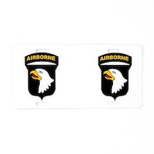 101st Airborne Aluminum License Plate