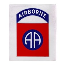 82nd Airborne Throw Blanket