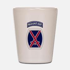 10th Mountain Shot Glass