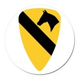 1st cavalry Round Car Magnets