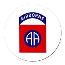 82nd Airborne Round Car Magnet