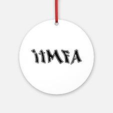 ITMFA Impeach Bush Graffiti Ornament (Round)