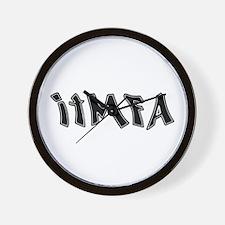 ITMFA Impeach Bush Graffiti Wall Clock