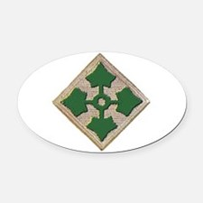 Fourth Infantry Div. Oval Car Magnet