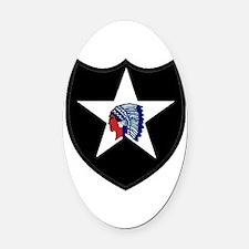 2nd Infantry Division Oval Car Magnet