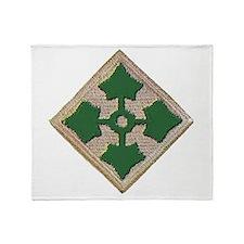Fourth Infantry Div. Throw Blanket