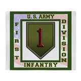 Army 1st infantry div big red one Blankets