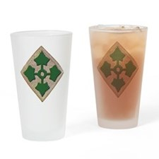 Fourth Infantry Div. Drinking Glass