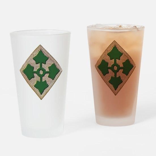 Fourth Infantry Div. Drinking Glass