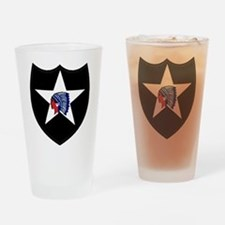 2nd Infantry Division Drinking Glass
