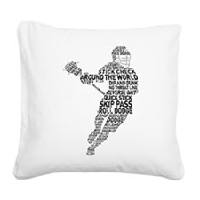 Lacrosse Terminology Square Canvas Pillow