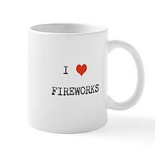 I heart fireworks Mug