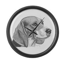Beagle Large Wall Clock
