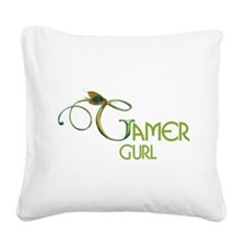 gamer-gurl.png Square Canvas Pillow