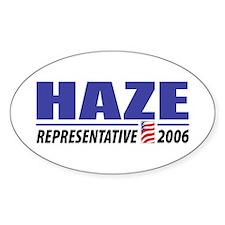 Haze 2006 Oval Decal