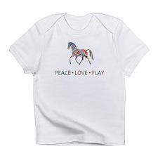 Rainbow Pony PEACE LOVE PLAY Infant T-Shirt