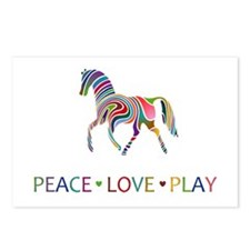 Rainbow Pony PEACE LOVE PLAY Postcards (Package of