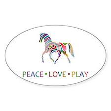 Rainbow Pony PEACE LOVE PLAY Decal