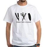 Barber Mens White T-shirts