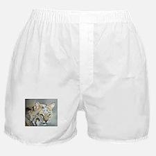 Bobcat - Pastel Drawing Boxer Shorts