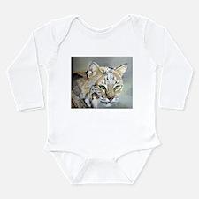 Bobcat - Pastel Drawing Long Sleeve Infant Bodysui