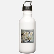 Bobcat - Pastel Drawing Sports Water Bottle