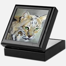 Bobcat - Pastel Drawing Keepsake Box