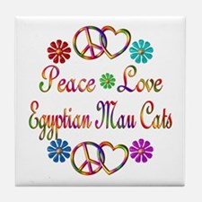 Egyptian Mau Cats Tile Coaster