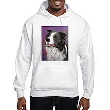 Pastel Painting of Border Collie Dog Hoodie