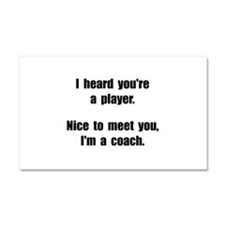 Player Coach Car Magnet 20 x 12