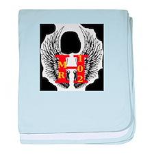 Mrhawkman102 Logo baby blanket