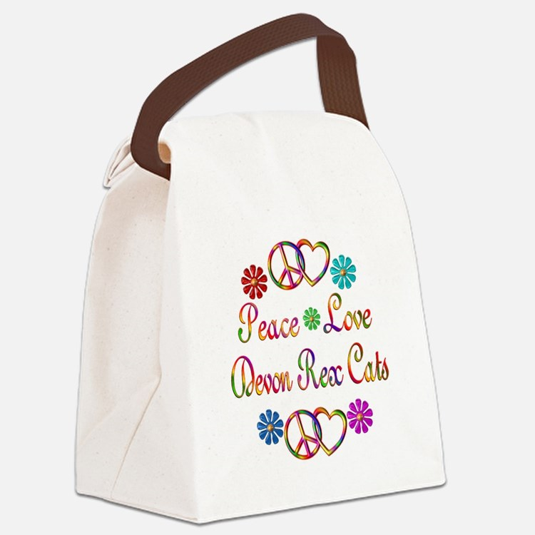 Devon Rex Cats Canvas Lunch Bag