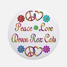 Devon Rex Cats Ornament (Round)