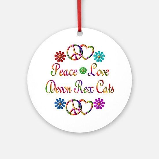 Devon Rex Cats Ornament (Round)
