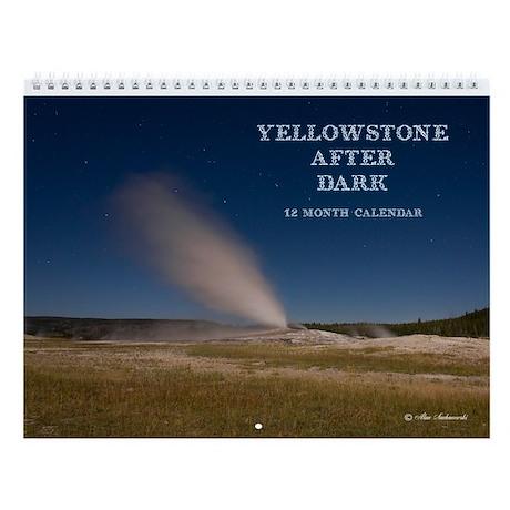 Yellowstone After Dark Wall Calendar