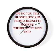hookers Wall Clock