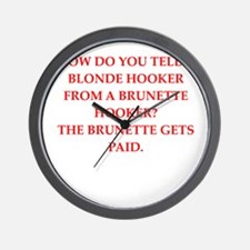 hookers Wall Clock